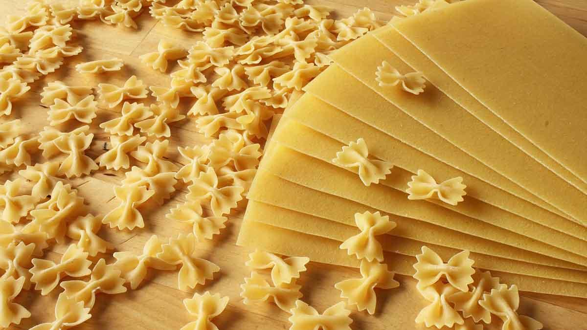 Sfoglia Lasagne e Farfalle pasta secca