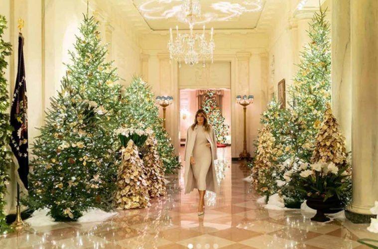 Addobbi Di Natale Immagini.Ecco Il Video Del Natale Di Melania Trump Alla Casa Bianca