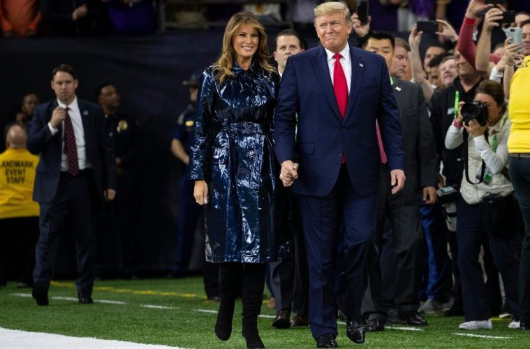 Melania e il Presidente degli Stati Uniti Donald Trump