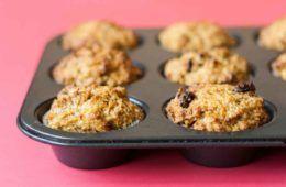 muffin di ricotta e cocco