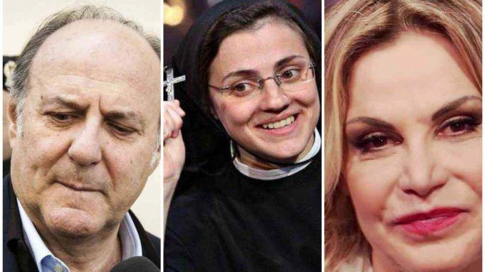 Suor Cristina, gerry scotti e Simona Ventura