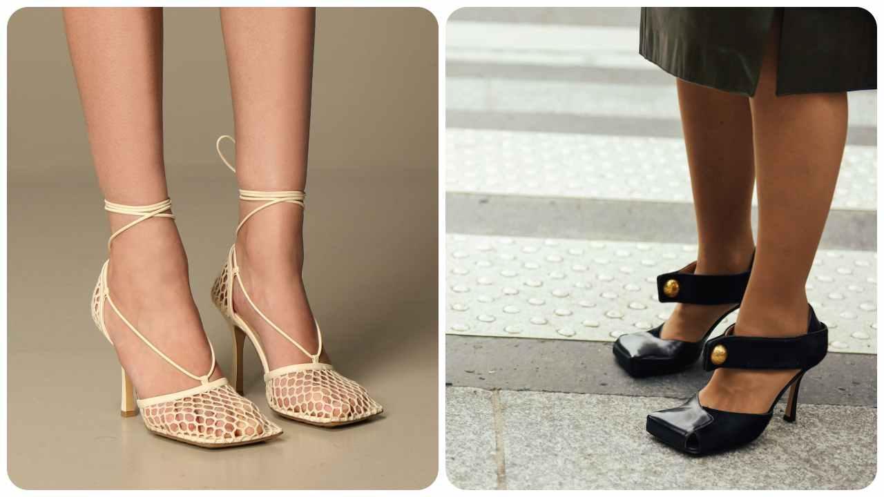 scarpe punta quadrata