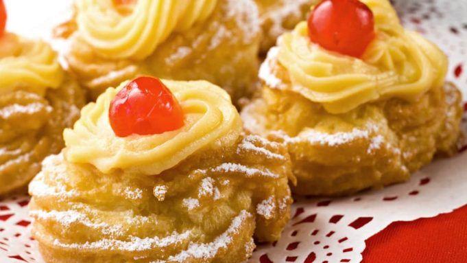 Le eppole di San Giuseppe un dolce tipico della festa del papà.