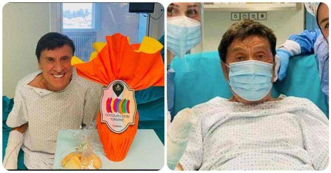 Gianni Morandi in ospedale per Pasqua-racconto cure